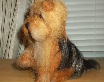 Yorkshire Terrier Felted Figurine