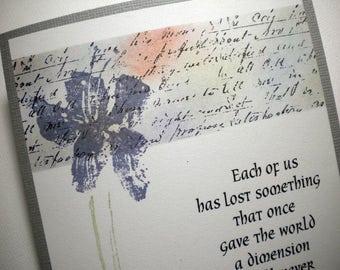 MEMORIES REMEMBERED ~ Mixed Media Sympathy Card