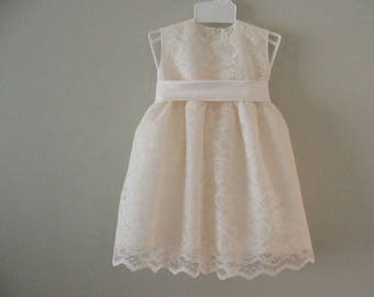 Toddler ivory lace dress