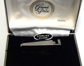 Sterling Initial J Tie Clip Swank Tie Bar in Box