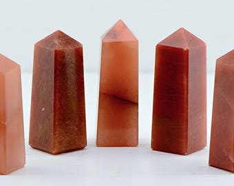 Red Aventurine Gemstone Obelisk - Stone of the Fire Element