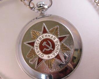 Vintage Working Moljina Russian Pocket Watch 1941-1945 USSR WW2