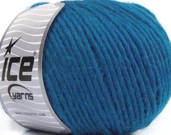 100 Gram Inca Alpaca Bulky Yarn #43730 Teal Blue Ice 40 Percent Alpaca, 50 Percent Virgin Wool, 10 Percent Acrylic, 109 Yards