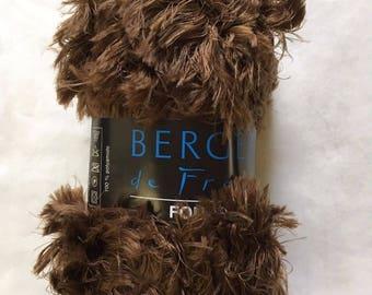 100 Gram Eyelash Bergere de France Fourrure #25204 Ours - Super Bulky & Soft Yarn