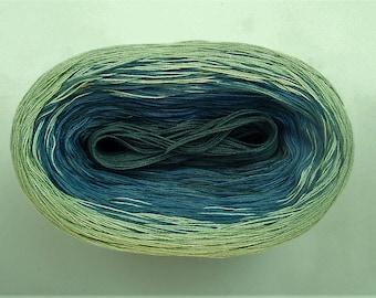 BROOK II --mega--  Color Changing Cotton yarn  865 yards/180 gr  Fingering Weight