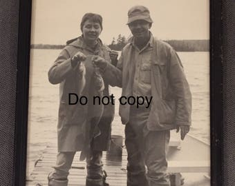 Vintage fishing photo Birchwood Cove Resort High Lake WI 1960s 8x10