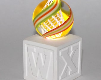 NEW! LIGHTED!! Porcelain Marble Stand! Bisque fired Hand Made by me - you decorate!!     MS97