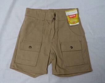 Vintage 70's LEVI'S BUSH Jean Shorts DEADSTOCK! Sz-28 Cargo Denim Jeans Pants