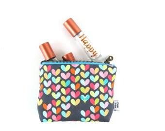 Ity-Bity Zipper Pouch - Love Bug  - Valentine mini change pouch essential oil bag coin purse Zip Wallet Money Wallet Change Purse
