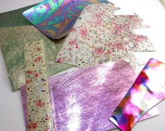 Foil Ribbon Scrap booking Paper Iridescent Craft Jewelry Supplies  #18