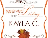 Falling In Love Hand Cut Maple Leaf Stand Alone Table Numbers... Reserved for Kayla C.
