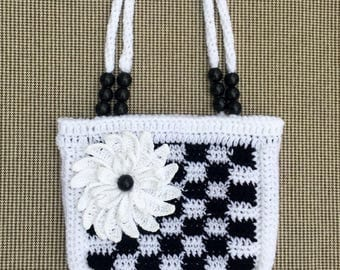 Handmade Crochet Handbag, Crochet Purse, Crochet Bag, Girl Crochet Purse, Girl Gift, Flower Crochet Purse, Handbag, Handmade Purse