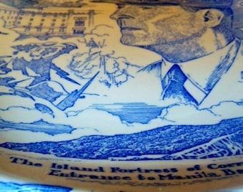 ON SALE Vintage General Douglas MacArthur Collector's Plate Vernon Kilns USA