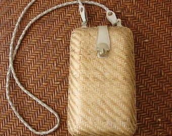 Vintage Straw Purse.