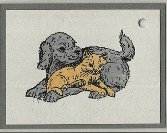 Unlikely Friends-Choice of Tags or Thank You Cards
