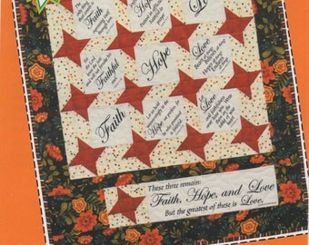 Quiltsy Team Destash Party Faith Hope and Love Pattern
