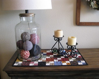 Scrappy Four Patch Table Runner