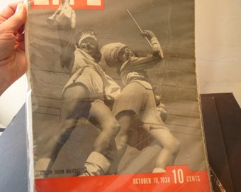 Life Magazine October 1938  - fantastic vintage magazine - great retro photos and ads MINT Condition - fall themes - US