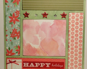 Christmas - Happy Holidays Present 8 x 8 scrapbook page