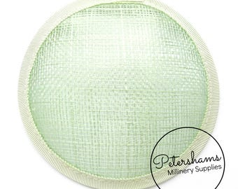 11cm Round Sinamay Fascinator Hat Base for Hat Making Millinery - Mint Green