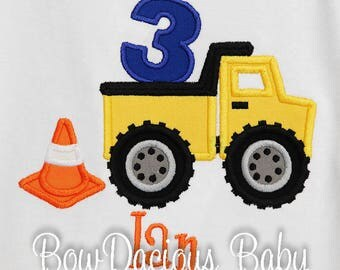 Boy's Dump Truck Birthday Shirt or Bodysuit, Dump Truck First Birthday Shirt or Bodysuit, Construction First Birthday Shirt, Dump Everything