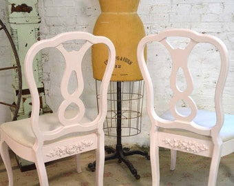 Painted Cottage Chic Shabby French Dining Kitchen Mix and Match Chairs CHR148