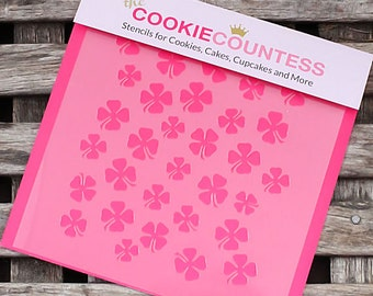 Shamrock Cookie Stencil, Shamrock Sugar Cookie Stencil, Shamrock Fondant Stencil, St Patricks Day Cookie Stencil, Shamrock Stencil