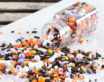 Sprinklefetti Halloween Sprinkles Mix, SPOOKY Halloween Sprinkles, Halloween Party Sprinkles, Sugar Pearls, Eye Sprinkles, Bone Sprinkles
