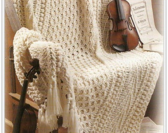 Crochet Aran Afghan Pattern - Instant Download -  PDF46501613