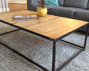 Industrial Wood/Metal Coffee Table