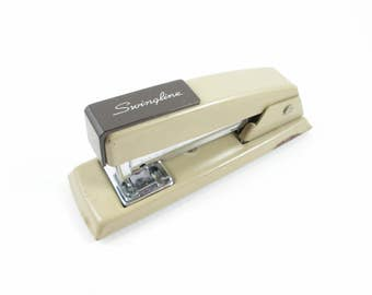 Swingline Stapler Vintage Two Tone Brown Small Desk Accessory Office Supply Model 711 Made In U.S.A.