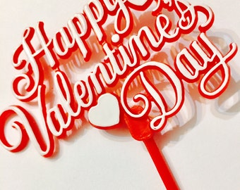 """Happy Valentines Day Cake Topper 7""""inches"""
