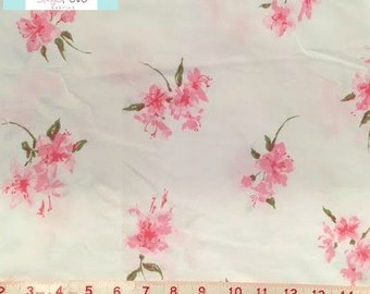 Full Vintage Flat Sheet with Pretty in Pink Flowers