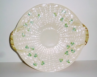 Vintage Belleek Shamrock Serving Plate