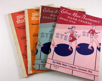 4 Vintage Sheet Music Books. 1960s. Display, Music to Play, Bulk Sheet Music Ephemera. Music Pages for Crafting. Art Supplies. Vtg Papers