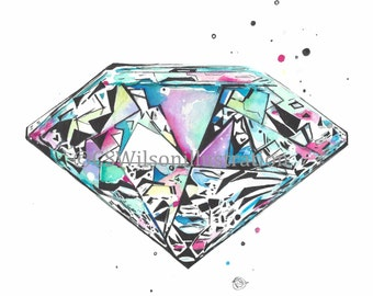 Retro Diamond - Fine Art Print