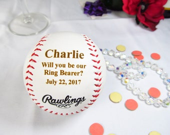 Custom Ring Bearer Proposal Gifts Baseball, Will You Be Our Ring Bearer, Ring Bearer Invitation, Baseball Theme Wedding, Ring Security