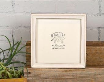 8x8 Square Picture Frame in Foxy Cove Style with Vintage White Finish - In Stock Same Day Shipping - 8 x 8 Photo Frame