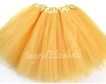 Gold Teen Adult 4 Layer Tutu ... Adult Tutu Costume Color Run Tutu Bachelorette Party