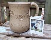 Custom Order for Coatikeeper - Cat Footprint Mug
