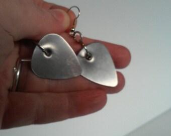 Guitar Pick Earrings - Found Object Earrings
