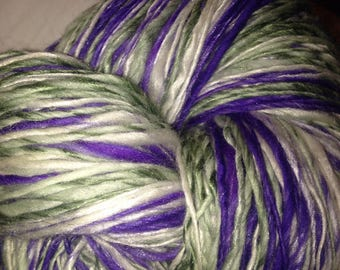 "220 Yards Handspun Merino / Bamboo Yarn ""Grape Hyacinth"""