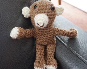 Amigurami, monkey, amigurami monkey, stuffed animal, toy, stuffed monkey, small toy