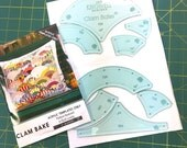 Clam Bake Acrylic Template Set by Jen Kingwell (Quilt Lovely)