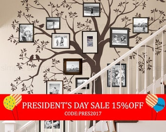 President's Day Sale - Staircase family Tree Wall Decal  Tree Wall Decal Sticker