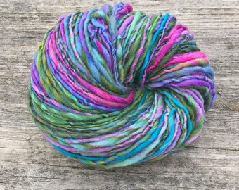 Handspun worsted weight merino yarn, 100 yards and 1.65 ounces/47 grams