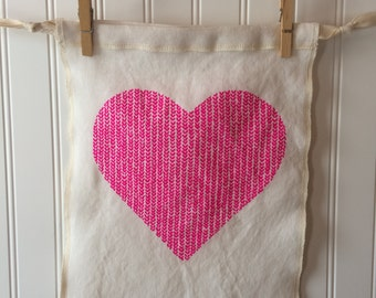 Knitting Project Bag - Love in Every Stitch medium size