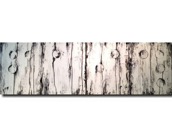 Original Large painting Braille  - 20 X 64 Inches-by Artist JMJartstudio- LOVE -Wall art- Custom-Featured on the TODAY Show