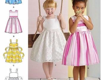 Girls' Dress Pattern, Little Girls' Sundress Pattern, Child's Sunday Dress Pattern, Sz 3 to 8, Simplicity Sewing Pattern 8351