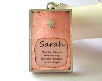 Custom Name and Meaning Jewelry - Girls Gift